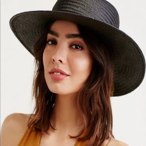 Free People Sunny Days Straw Boater Hat